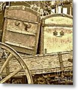Old Trunks In Genoa Nevada Metal Print