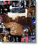 Old Tucson Arizona Composite Of Artists Performing There 1967-2012 Metal Print