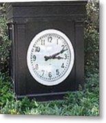 Old Tyme Clock Metal Print