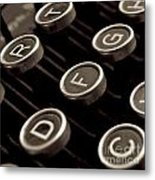 Old Typewriter Metal Print by Bernard Jaubert