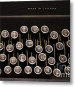 Old Typewriter Metal Print