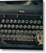 Old Typewriter With Letter Metal Print