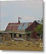 Old Vacant Country Property Metal Print