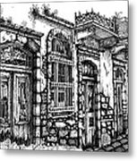 old Venetian doors Metal Print