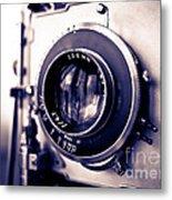 Old Vintage Press Camera  Metal Print