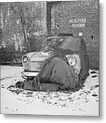 Old Vw Squareback Metal Print