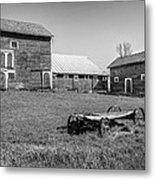 Old Wagon And Barns Metal Print