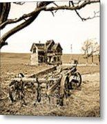 Old Wagon And Homestead II Metal Print by Athena Mckinzie