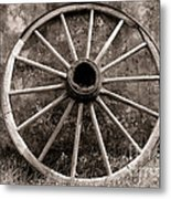 Old Wagon Wheel Metal Print by Olivier Le Queinec