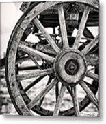 Old Wagon Wheels Metal Print