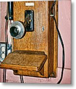 Old Wall Telephone Metal Print