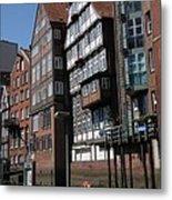 Old Warehouses Port Of Hamburg  Metal Print