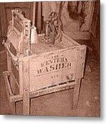 Old Washer Metal Print