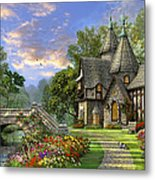 Old Waterway Cottage Metal Print