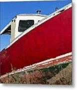 Old Weathered Boat Metal Print