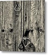 Old Weathered Door Metal Print