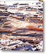 Old Weathered Log On The Sea Shore Metal Print