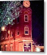 Old Wedge Bank  Building  Haunted Alton Ill Metal Print