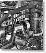 Old West Fire Wagon V4 Metal Print