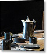 Old West Table Setting Metal Print
