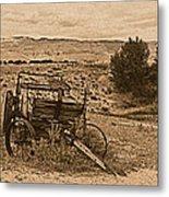 Old West Wagon Metal Print
