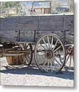 Old Western Wagon Metal Print