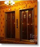 Old Westinghouse Elevators At The Brown Palace Hotel In Denver Metal Print