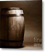 Old Whisky Barrel Metal Print