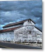 Old White Barn Metal Print