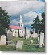 Old White Church Cemetery Metal Print