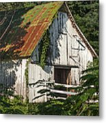 Old Whitewashed Barn In Tennessee Metal Print by Debbie Karnes