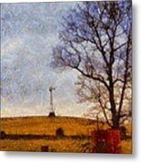 Old Windmill On The Farm Metal Print