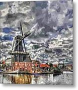 Old Windmill On The Shore Metal Print by Maciej Froncisz