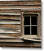 Old Window And Clapboard Metal Print
