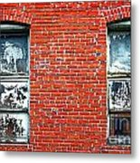 Old Windows Bricks Metal Print