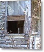Old Windows Overlooking New World Metal Print