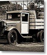 Old Wine Truck Malibu Metal Print