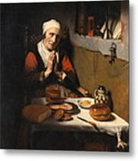Old Woman At Prayer Metal Print
