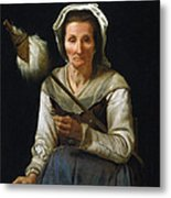 Old Woman Spinning, 1646-48 Metal Print