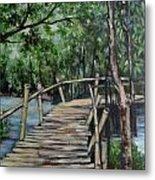 Old Wood Bridge Metal Print