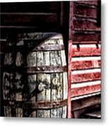 Old Wooden Barrel Metal Print
