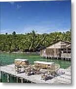Old Wooden Pier Of Koh Rong Island In Cambodia Metal Print