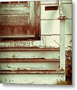 Old Wooden Porch Metal Print