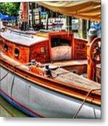 Old Wooden Sailboat Metal Print