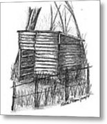 Old Wooden Shed Metal Print by Diane Palmer