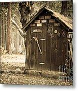 Old Wooden Shed Yosemite Metal Print