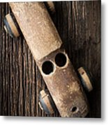 Old Wooden Vintage Toy Car Metal Print