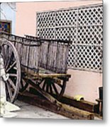 Old Wooden Wagon Metal Print by Marilyn Hunt