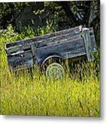 Old Wooden Wagon Metal Print