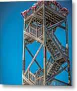 Old Wooden Watchtower Key West - Hdr Style Metal Print by Ian Monk